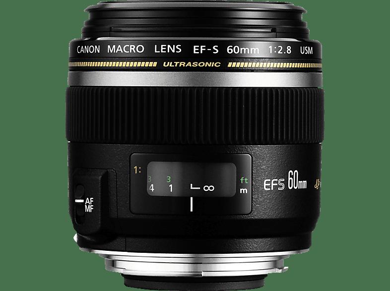 CANON 60 mm f/2.8 EF-S, USM (Objektiv für Canon EF-S-Mount, Schwarz)