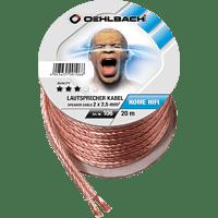 OEHLBACH Speaker Wire SP-25 2000 Lautsprecherkabel 2 x 2,5 qmm, Mini Spule 20 m Lautsprecherkabel