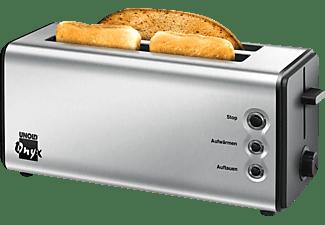 UNOLD 38915 Onyx Duplex Toaster Edelstahl/Schwarz (1400 Watt, Schlitze: 2)