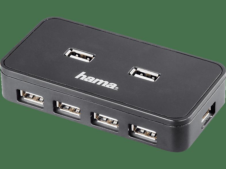 HAMA 1:7 USB 2.0, Hub, Schwarz