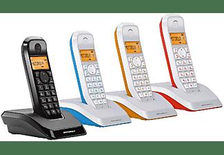 Teléfono - Motorola S 1201, con manos libres y agenda, azul