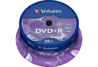 Verbatim DVD+R Single Layer 25 stuks