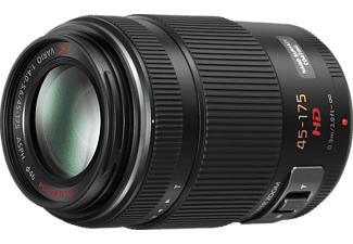 PANASONIC HS-PS 45175 Lumix G 45 mm - 175 mm f/4-5.6 ASPH (Objektiv für Micro-Four-Thirds, Schwarz)