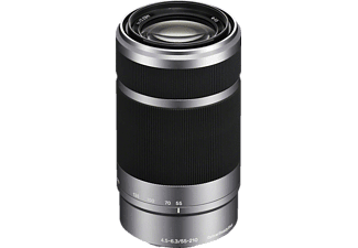 SONY SEL55210 55 mm - 210 mm f/4.5-6.3 OSS, Circulare Blende (Objektiv für Sony E-Mount, Silber)