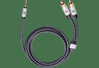 OEHLBACH 60002 i-Connect J-35/R Cinch-Klinke-Kabel Schwarz