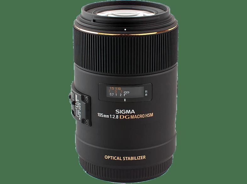 SIGMA 105 mm f/2.8 EX, DG, HSM, OS (Objektiv für Nikon F-Mount, Schwarz)