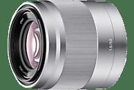 SONY SEL50F18 - 50 mm f/1.8 OSS, Circulare Blende (Objektiv für Sony E-Mount, Silber)