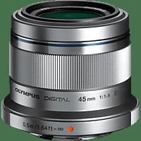 OLYMPUS Pen M Zuiko Digital 45 mm - 45 mm f/1.8 MSC (Objektiv für Micro-Four-Thirds, Silber)