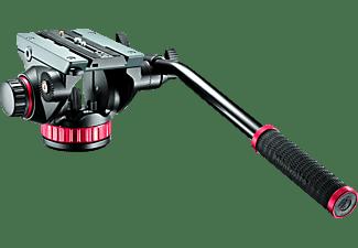 MANFROTTO MVH502AH+504PL Stativkopf, Schwarz, Höhe offen bis 130 mm