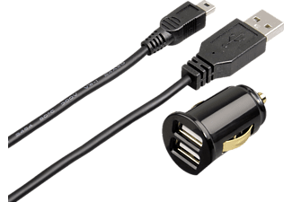 HAMA 093772 USB-Kfz-Ladegerät Dual Piccolino + Mini-USB -Ladekabel
