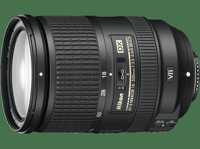 NIKON AF-S DX NIKKOR 18-300mm 1:3,5-5,6G ED VR  für Nikon F-Mount, 18 mm - 300 mm, f/3.5-5.6