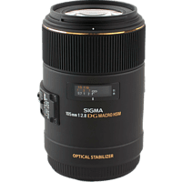 SIGMA 105 mm F2.8 EX DG OS HSM 105 mm f/2.8 EX, OS, DG, HSM (Objektiv für Canon EF-Mount, Schwarz)