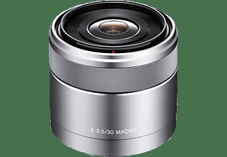 SONY SEL30M35 30 mm - 30 mm f/3.5 ED, Circulare Blende (Objektiv für Sony E-Mount, Silber)