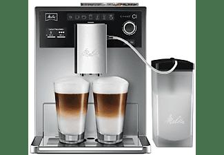 Cafetera superautomática - Melitta® CI, Molinillo integrado con 5 grados de ajuste, My Coffee Memory, Plata