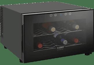 CASO Weinkühlschrank WineCase 8 Schwarz für 8 Flaschen