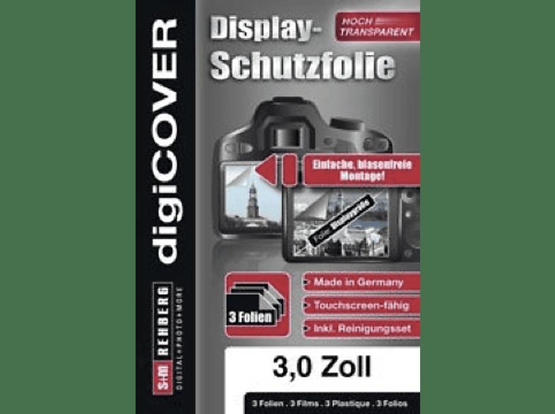 S+M Digicover 3 Zoll Monitor Schutzfolie, Schutzfolie für Monitore, Transparent