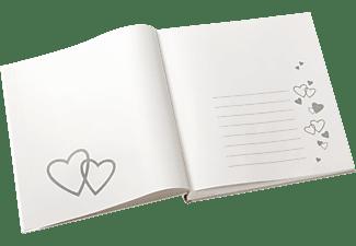 WALTHER UH-122 Ti Amo Hochzeitsalbum, 60 Seiten, Leineneinband, Weiß
