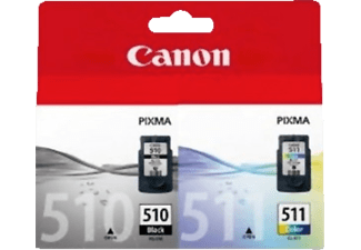 CANON Tintenpatrone Multipack 510/511 black+color (2970B010)