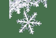KONSTSMIDE LED Acryl Schneeflocken Lichtervorhang, 5er-Set, 60 kalt weiße Dioden LED Schneeflocken Lichtervorhang,  Transparent,