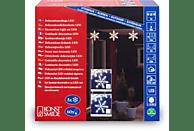 KONSTSMIDE LED Acryl Schneeflocken Lichtervorhang, 5er-Set, 60 warm weiße Dioden LED Schneeflocken Lichtervorhang,  Transparent,