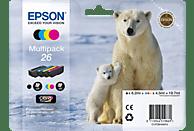 EPSON Original Tintenpatrone mehrfarbig (C13T26164010)