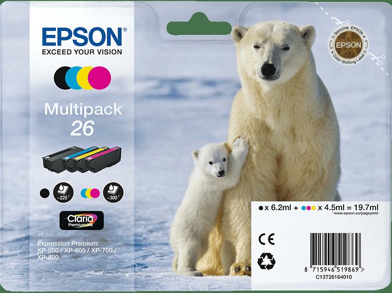 EPSON Original Tintenpatrone Eisbär Multipack mehrfarbig (C13T26164010)