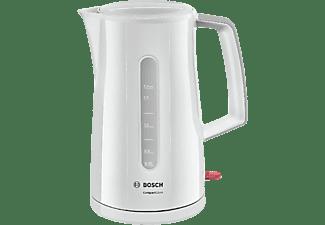 Hervidor de agua - Bosch TWK3A011, Potencia 2400W, Capacidad 1.7L, Indicador de nivel de agua, Base