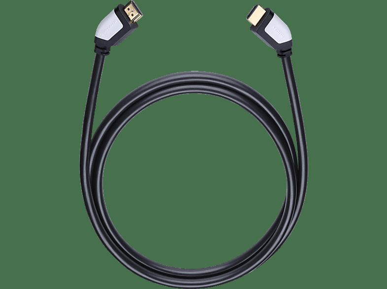 OEHLBACH 42462 Shape Magic-HS HDMI Kabel 2,2 m HDMI Kabel, Schwarz