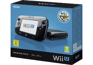 NINTENDO Nintendo Wii U - Premium Pack, 32 GB, Schwarz inkl. Nintendo Land