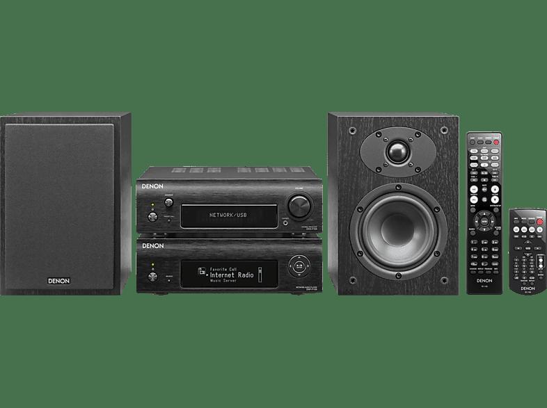 DENON D-F 109 N BKBKE2 Kompaktanlage (iPod Steuerung, Internetradio, Last.fm (Abo erforderlich), DLNA- und AirPlay-Netzwerkquellen, USB-Massenspeicher, iPod/iPhone/iPad, Schwarz)