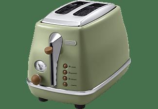 DELONGHI CTOV 2103 Toaster Grün (900 Watt, Schlitze: 2)
