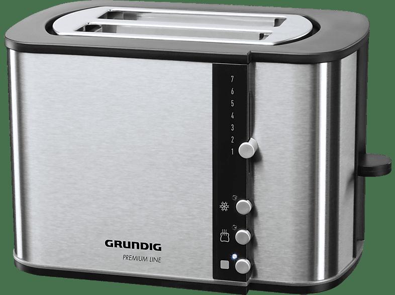 GRUNDIG TA5260 Toaster Edelstahl (870 Watt, Schlitze: 2)