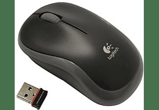 Ratón inalámbrico - Logitech M185, nano receptor, 2,4GHz, color gris y negro
