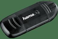 HAMA USB-2.0 Kartenleser, Anthrazit