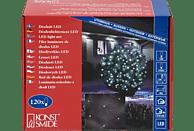 KONSTSMIDE LED Lichternetz, 120 warm weiße Dioden LED Lichternetz,  schwarzes Kabel, warm weiße Dioden,