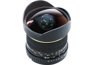 DÖRR 361005 FISHEYE OBJEKTIV 8MM 1:3,5 CANON EO - 8 mm f/3.5 (Objektiv für Canon EF-Mount, Schwarz)