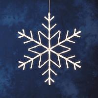 KONSTSMIDE 4460-103 LED ACRYL SCHNEEFLOCKE Dekobeleuchtung,  Transparent,  Warmweiß