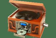 RICATECH RMC250 Kompaktanlage (CD, SD-Karte, USB-Stick, LP, Kassette, Holz)