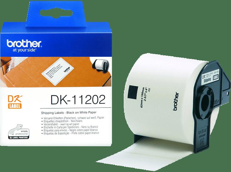 BROTHER DK-11202, Versand-Etiketten (62 x 100 mm) Einzel-Etiketten