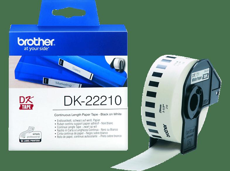 BROTHER DK-22210 Endlosetiketten Schwarz