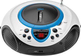 LENCO Radio mit CD SCD-38 USB, blau (SCD38USB-BLUE)