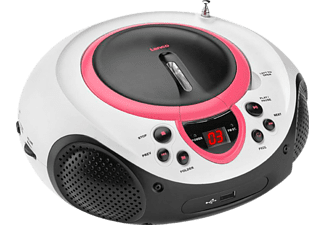 LENCO SCD-38 - CD-Radio portable (FM, Rose)