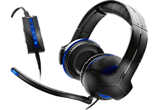 Auriculares gaming - Thrustmaster - Multiplataforma, Y-250P, Negros, PS4/ PS3/ PC