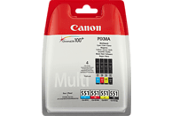 CANON CLI 551 Tintenpatrone mehrfarbig (6509B009)