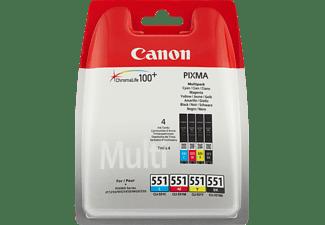 CANON Tintenpatronen Multi-Pack CLI-551 C/M/Y/BK (6509B009)