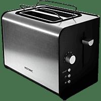 KOENIC KTO 120 Toaster Edelstahl/Schwarz (870 Watt, Schlitze: 2)