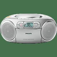 PHILIPS AZ127/12 mit Kassettendeck Radiorecorder (Silber)