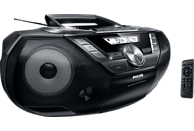 PHILIPS AZ787/12 mit Kassettendeck Radiorecorder (Schwarz)