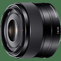 SONY SEL35F18 - 35 mm f/1.8 ED, OSS, Circulare Blende (Objektiv für Sony E-Mount, Schwarz)