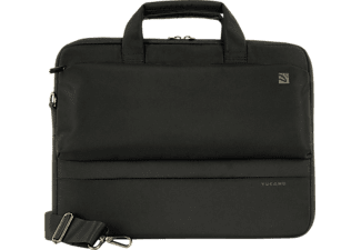 TUCANO 32072 Dritta Slim Notebooktasche Aktentasche für Universal Polyester, Schwarz